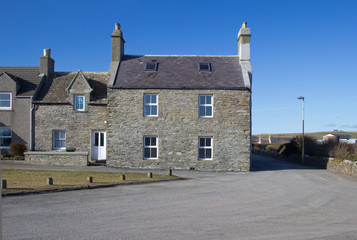 Old houses, Shapinsay, Orkney, Scotland