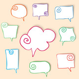 twisted hand drawn speech bubbles