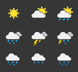 set of weather icons