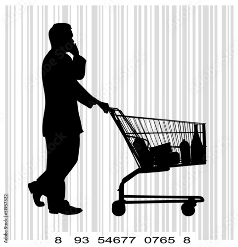 people with shopping