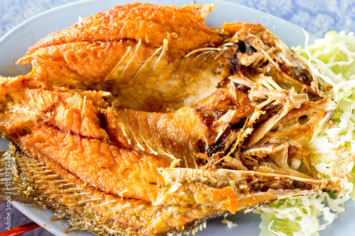 fired fish, the delicious of Thailand food