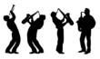 silhouette of jazz musician - 51938182