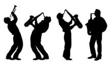 Silueta del músico de jazz