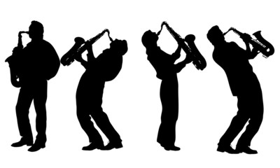 silhouette of jazz musician