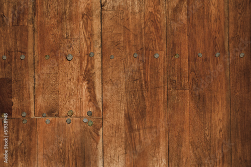 wood floor with nails