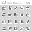 20 icons business set 2