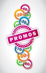 Promotions - Illustration vectorielle