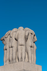 Sculpture group of girls in the Vigeland Park.