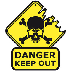 Danger Keep Out Death Sign