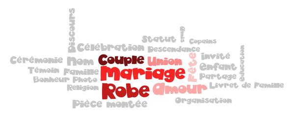 Nuage de Tags : Mariage