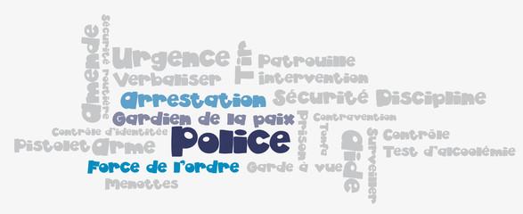 Nuage de Tags : police