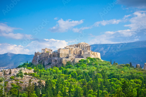 Fotobehang Athene Beautiful view of ancient Acropolis, Athens, Greece