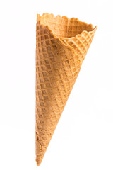 blank crispy ice cream cone