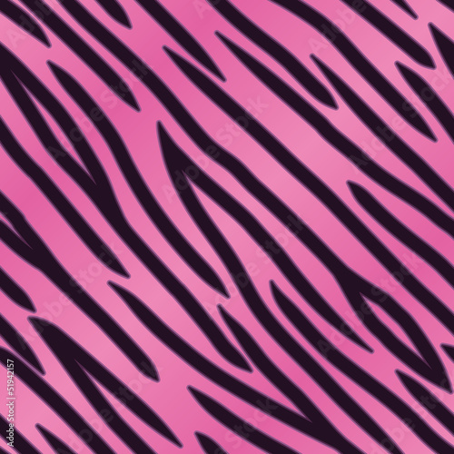 Pink Tiger Striped Background