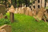 Old Jewish cemetery in Prague, Europe