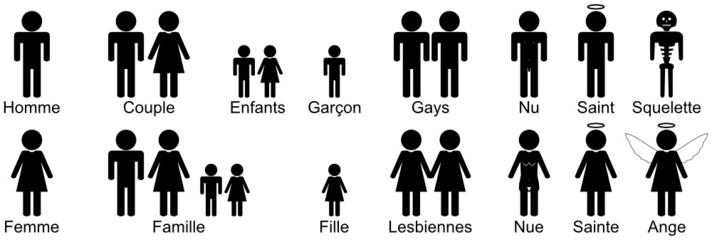 Bonhommes symboliques