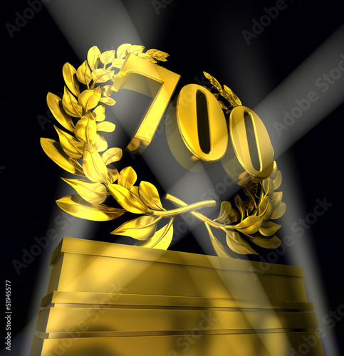 700 number laurel wreath