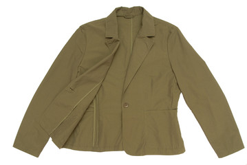 A snuff-color jacket is on white background.