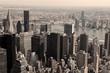 Skyline of Manhattan - sepia image