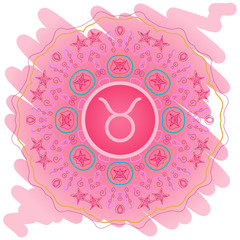 zodiac sign The Bull (taurus) pink