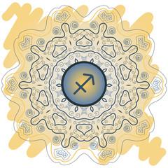 zodiac sign The Archer (sagittarius) yellow