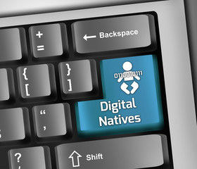 "Keyboard Illustration ""Digital Natives"""