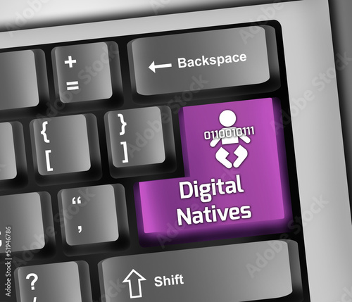"Keyboard Illustration ""Digital Natives"""