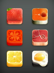 Food app icons set