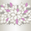 Gorgeous silver and pink flowers and leaves book cover