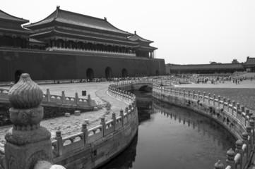 Inside of Forbidden City (B&W)