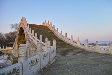 Chinese style arch bridge in Summer Palace