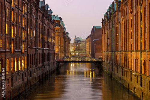 canvas print picture Hamburger Speicherstadt