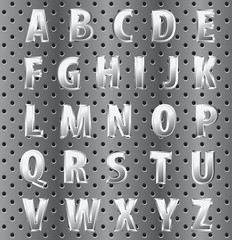 perforated alphabet