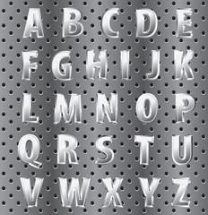 perforated alphabet