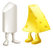Chalk and cheese characters
