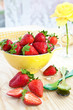 canvas print picture - Fresh ripe strawberries