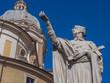 Roma, statua di San Carlo