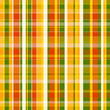 Yellow, orange  and green plaid  pattern