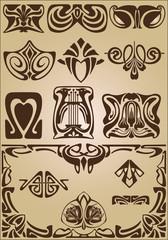 Art Nouveau design elements and frame