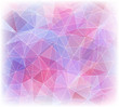 Abstract geometric polygonal background in pink colors
