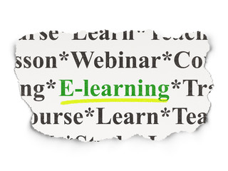 Education concept: E-learning on Paper background