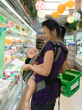 shopping with baby cold storage