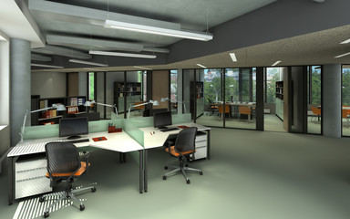 rendering of a modern office  interior