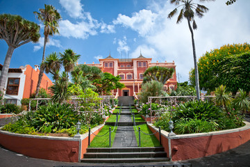 Tropical gardens in La Orotava town, Tenerife, Canary ,Spain
