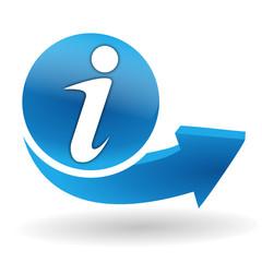 information sur bouton web bleu
