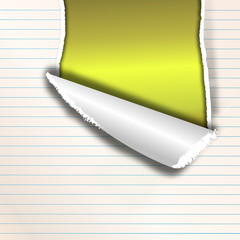 Papier mit Riss (gelb-leuchtend)