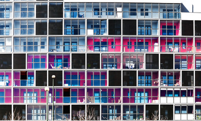 arquitectura urbana.Imagen frontal de fachada