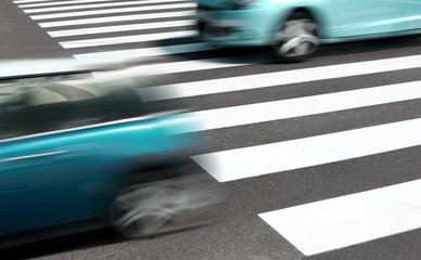 coches en movimiento.Seguridad vial concepto