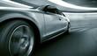 Leinwanddruck Bild - Car driving fast in tunnel