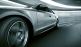 Fototapety Car driving fast in tunnel